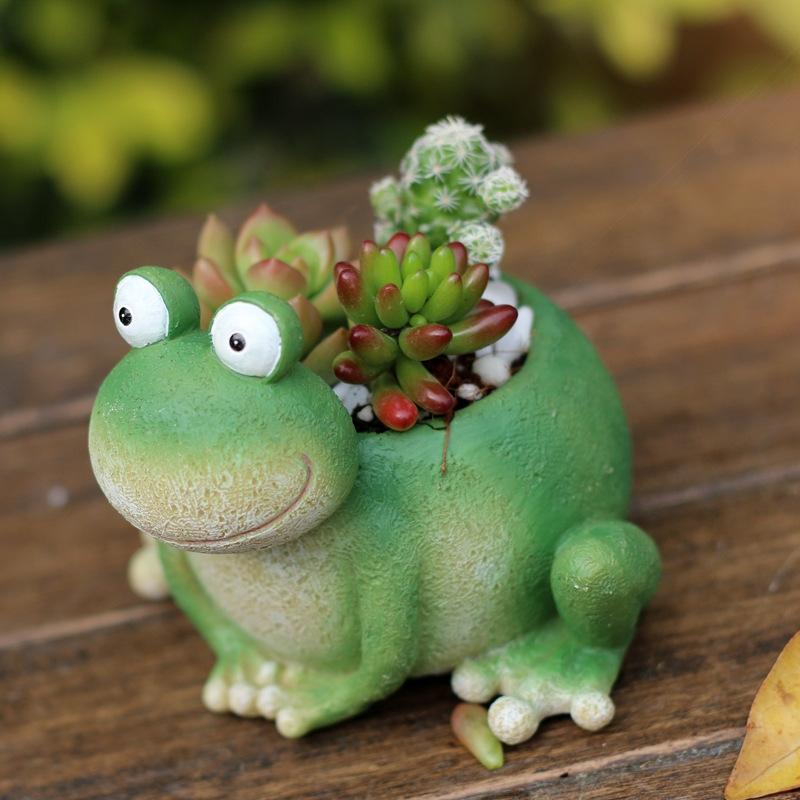 如果zakka妙妙蛙小动物多肉花盆创意