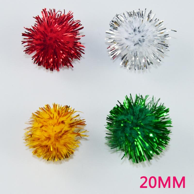 20mm葱球 圣诞辅料 手工制作毛绒玩具