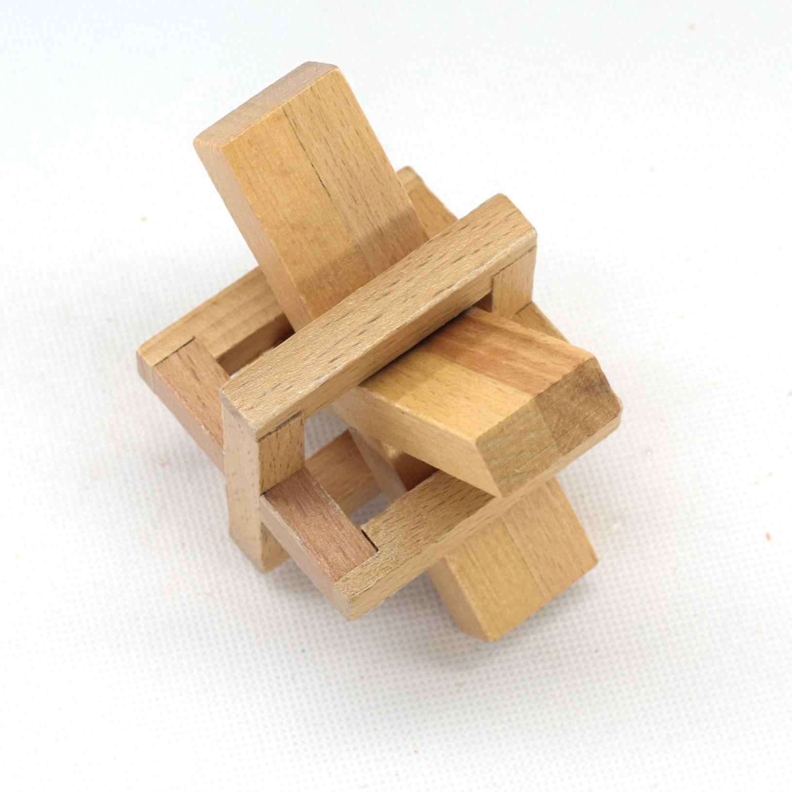 鲁班锁15通拼装步骤图