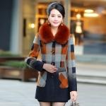 中年女装毛呢外套妈妈装呢大衣毛领羊绒20