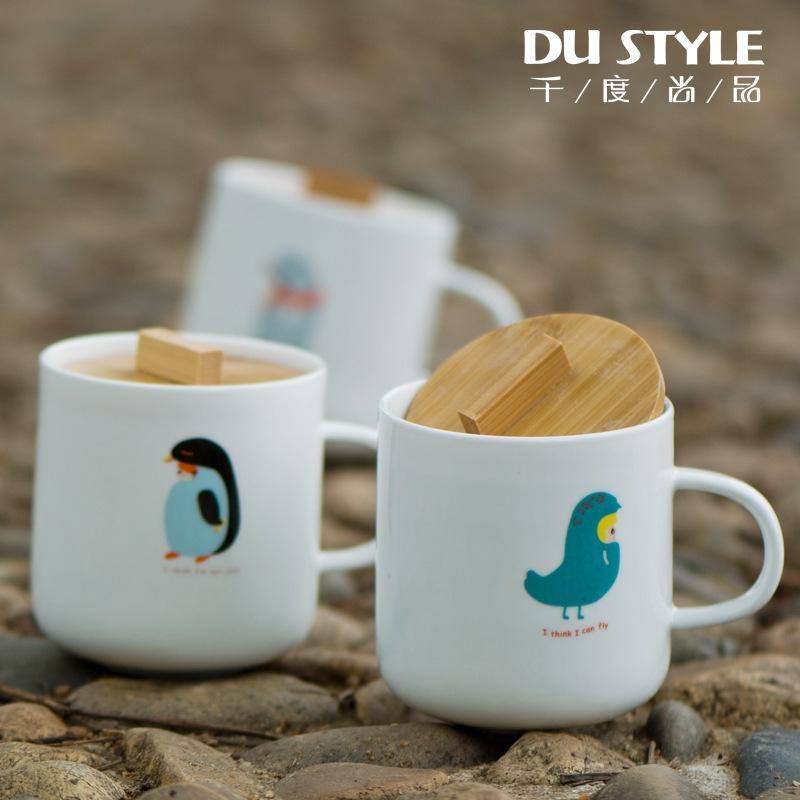 可爱水杯陶瓷小杯子 动物zakka马克杯