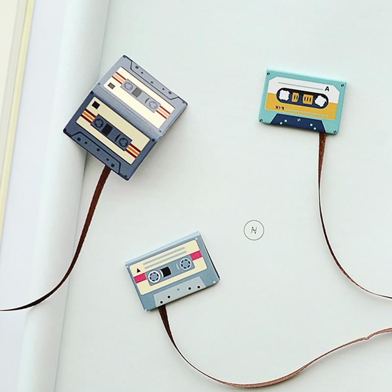 创意磁带造型磁性书签可爱迷你学生磁贴书页