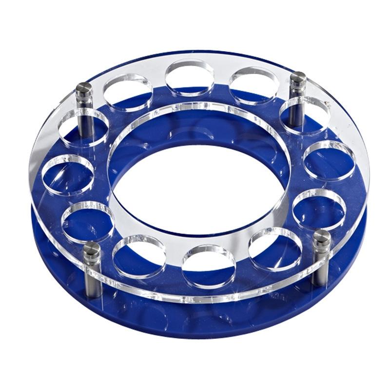 酒吧亚克力杯架 子弹杯架 空心圆形深蓝色