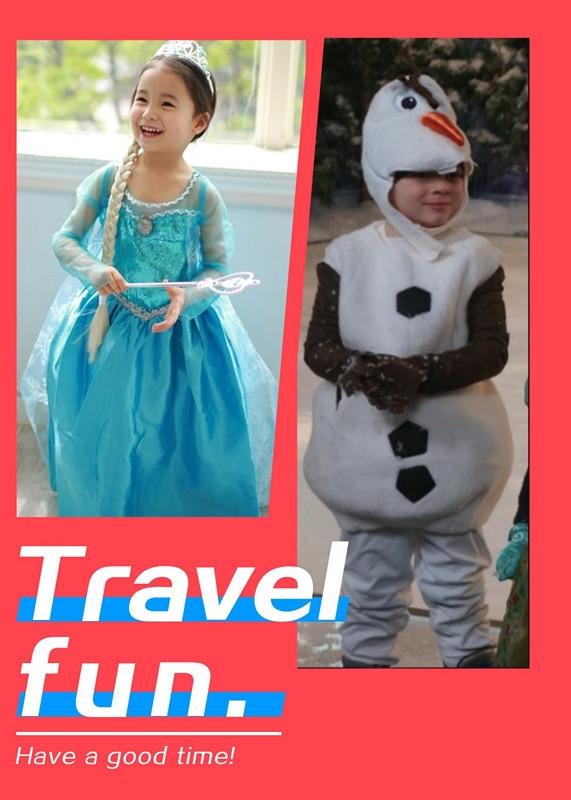 儿童表演服冰雪奇缘frozen雪宝演出服