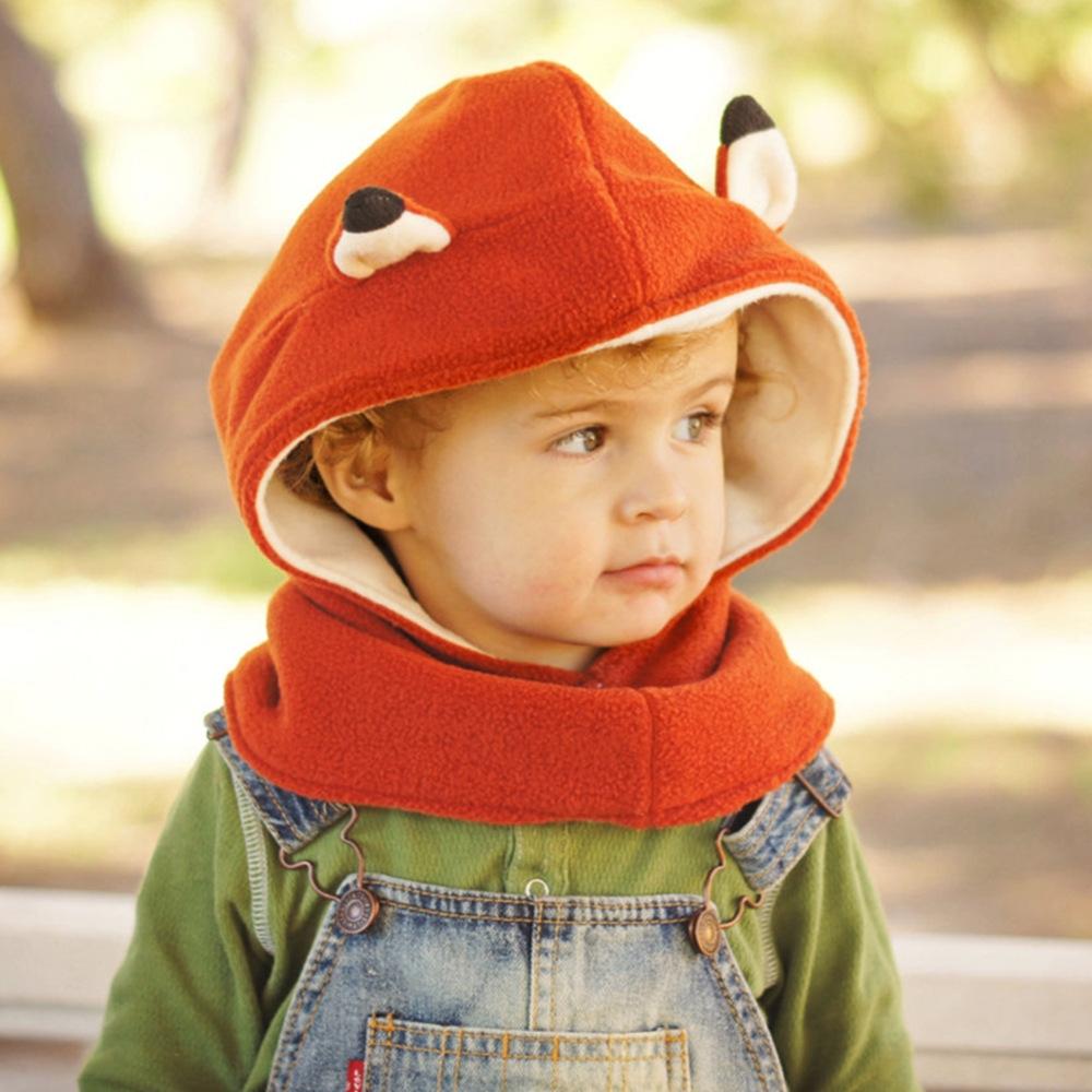 供应信息 帽子 2016新款欧美外贸儿童帽卡通动物狐狸婴
