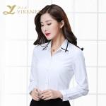 夏季女衬衫长袖修身职业装女款白衬衫厂家批