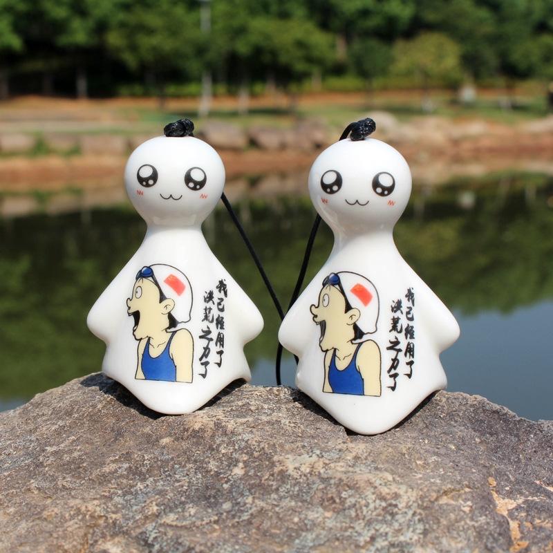 原创卡通工艺品 励志正能量晴天娃娃陶瓷风