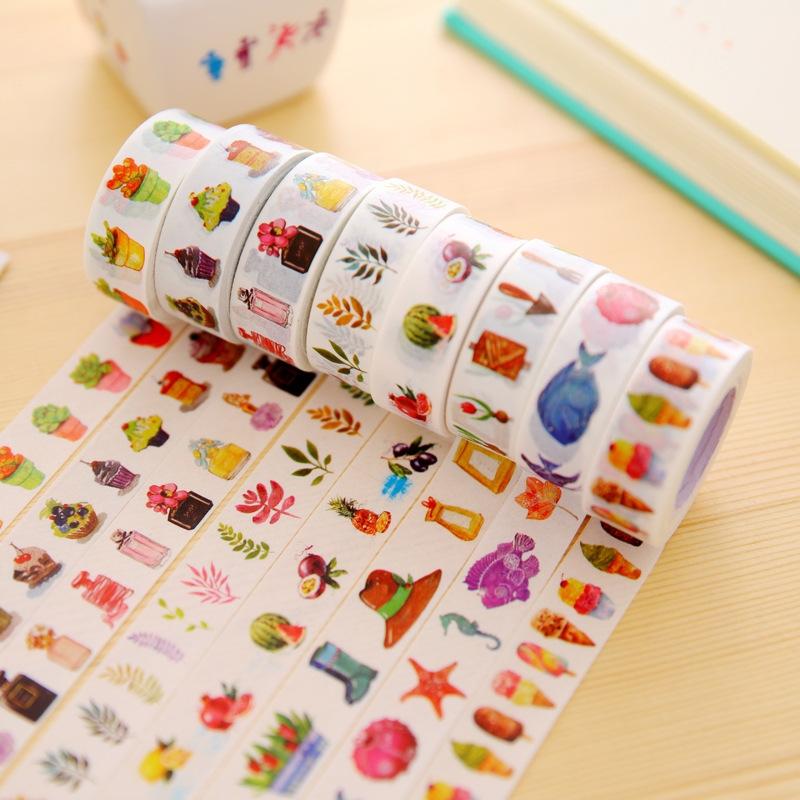 日本和纸胶带 原创和风水彩手帐胶带 相册