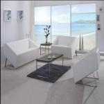 龍崗辦公室家具會客白色沙發 時尚接待沙發