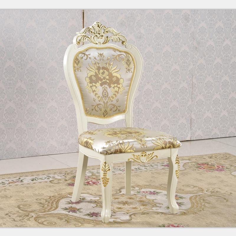 996#欧式酒店餐椅软包实木餐桌椅