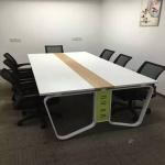 板式鐵架會議桌4人位員工桌現貨辦公桌鐵架