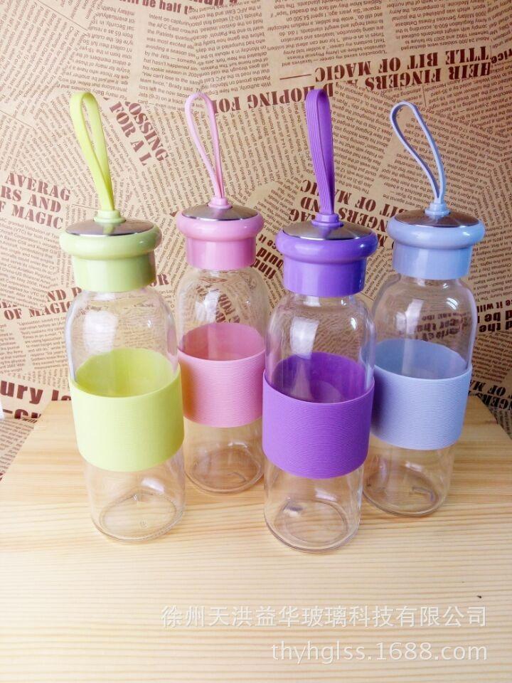 玻璃杯水杯便携杯子创意男运动水瓶可爱随手