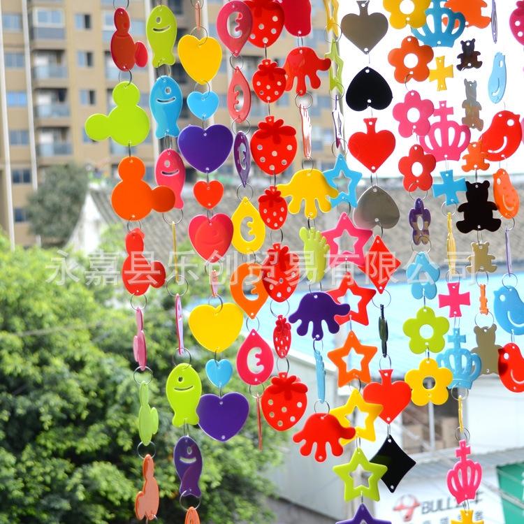 幼儿园室内外创意吊饰 可爱隔断帘挂饰 塑
