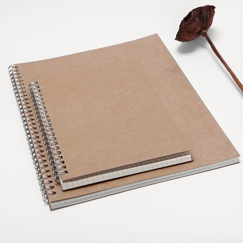 无印复古空白牛皮纸线圈本 横线本 5mm