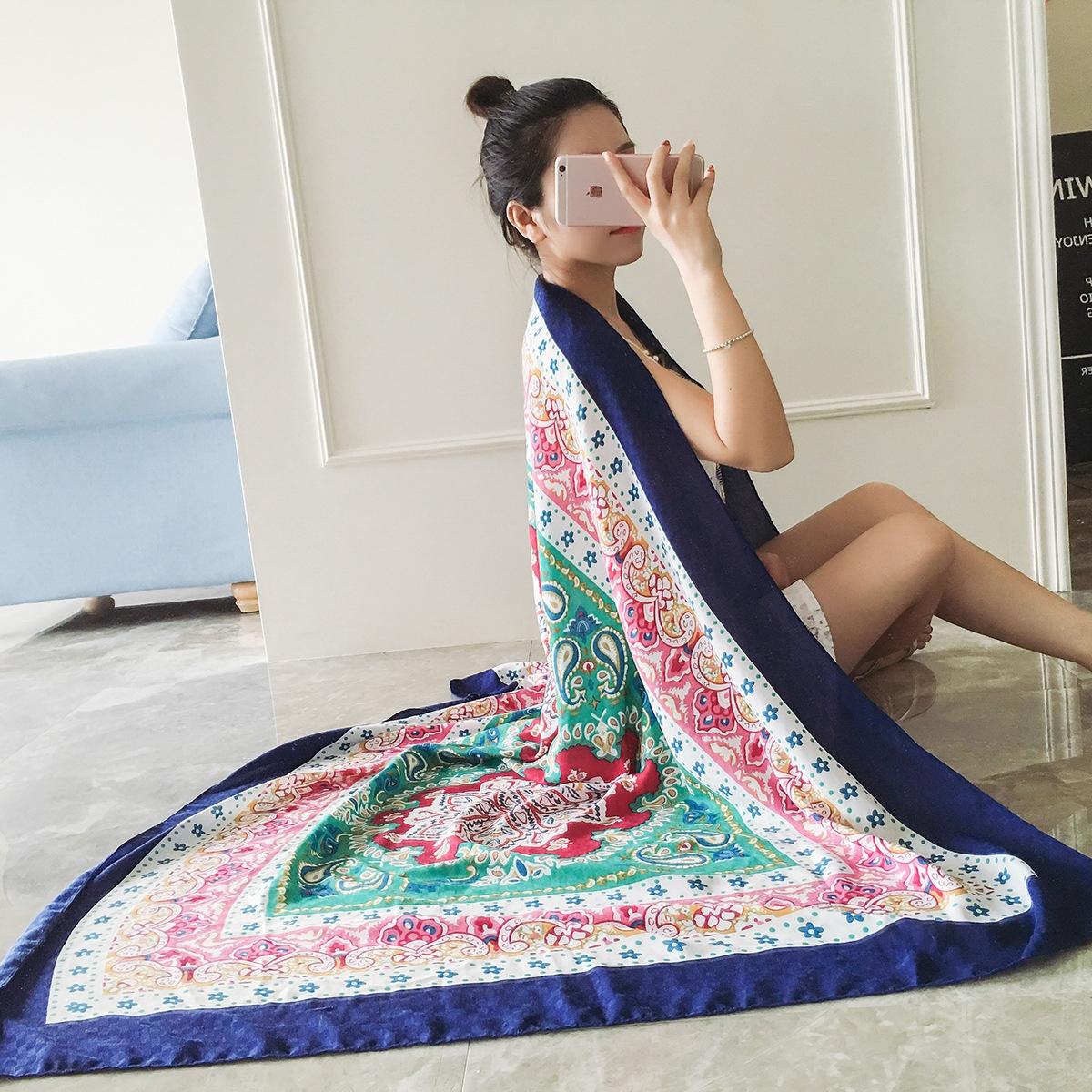 肩棉麻紗巾
