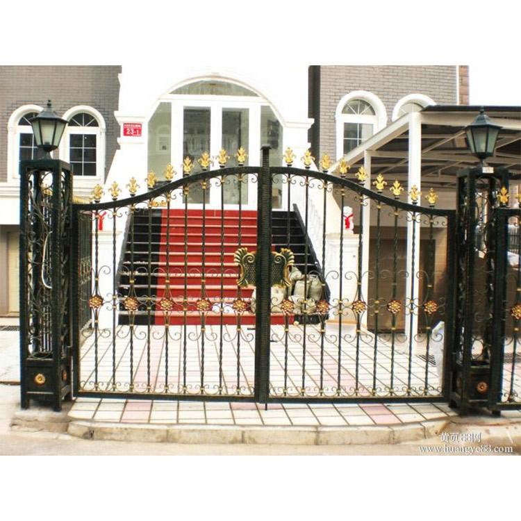 定制铁艺大门庭院别墅自动欧式平开大门围墙