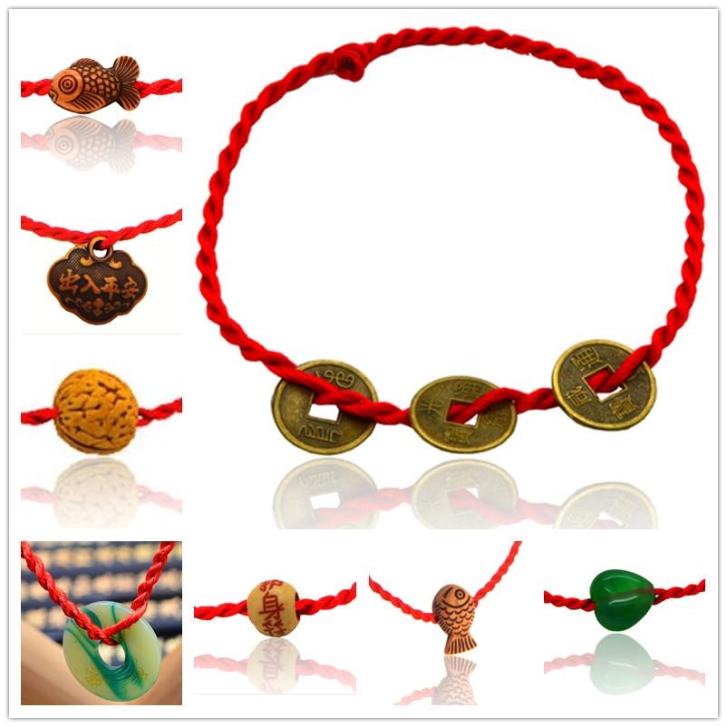 红绳手链宝宝手链网店手工编织鸡年促销活动