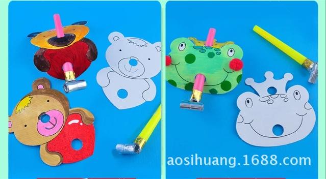 长沙市雨花区柏叶工艺品商行 供应信息 面具 涂色兔子青蛙动物涂色