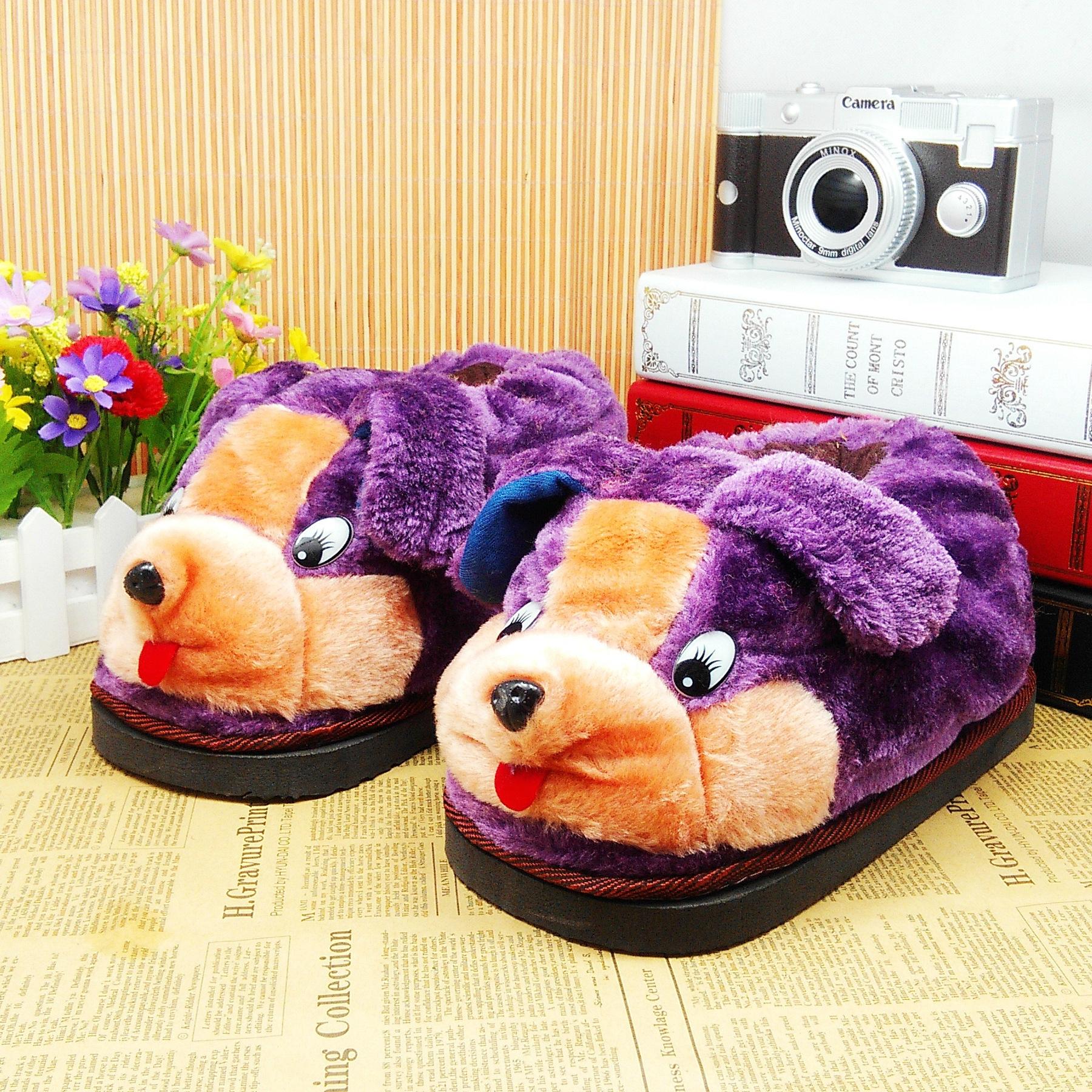 冬季保暖室内棉鞋可爱动物卡通家居棉鞋拖鞋