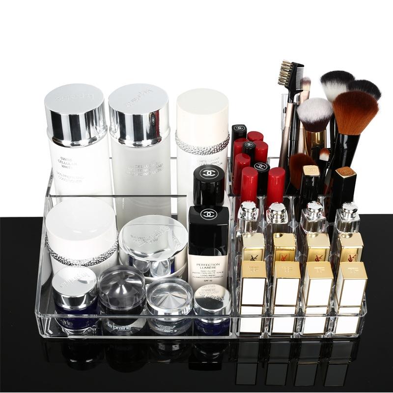 超大桌面化妆品收纳盒 口红护肤品收纳盒化