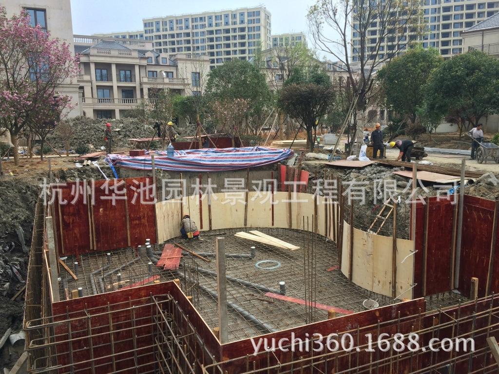杭州华池锦鲤园林专业别墅庭院鱼池设计建站