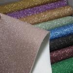 仙度瑞拉闪光膜复合革 闪钻革 流沙彩色格