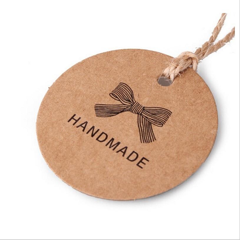 手工吊牌 牛皮纸复古挂牌 手工制作标签通