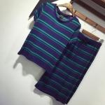 2016新款秋季女装 韩版条纹修身显瘦套