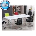 板式會議桌帶線盒辦公家具會議桌時尚簡約現