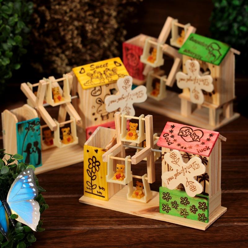 纸箱手工制作风车图片