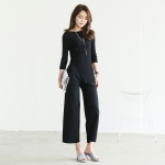 2016秋季新款女装 时尚韩版休闲纯色长