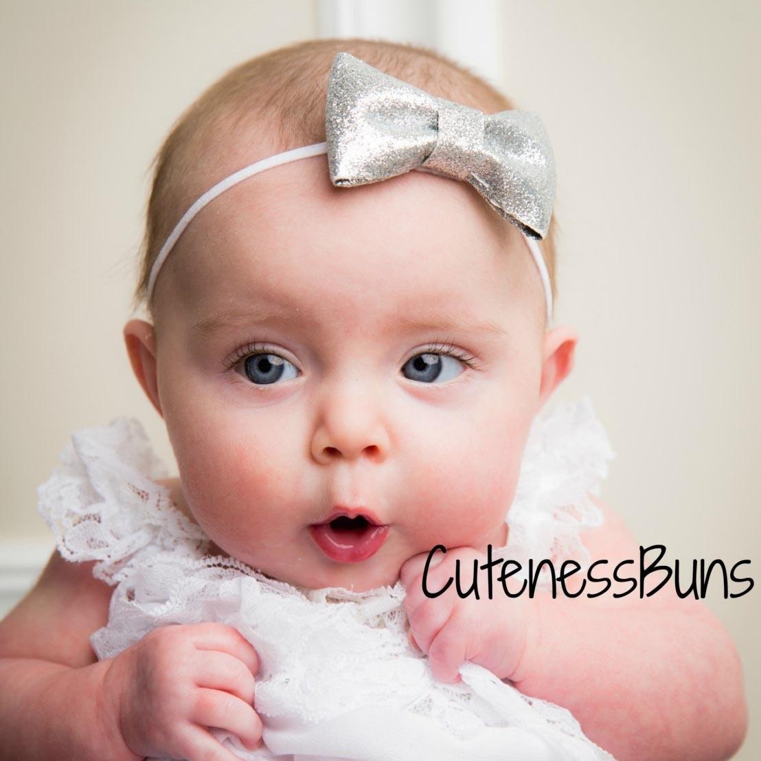 儿童金聪蝴蝶结头饰婴儿拍照道具带欧美宝宝