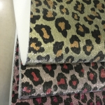 金属拉丝革 豹纹印花闪光革 格利特极光革