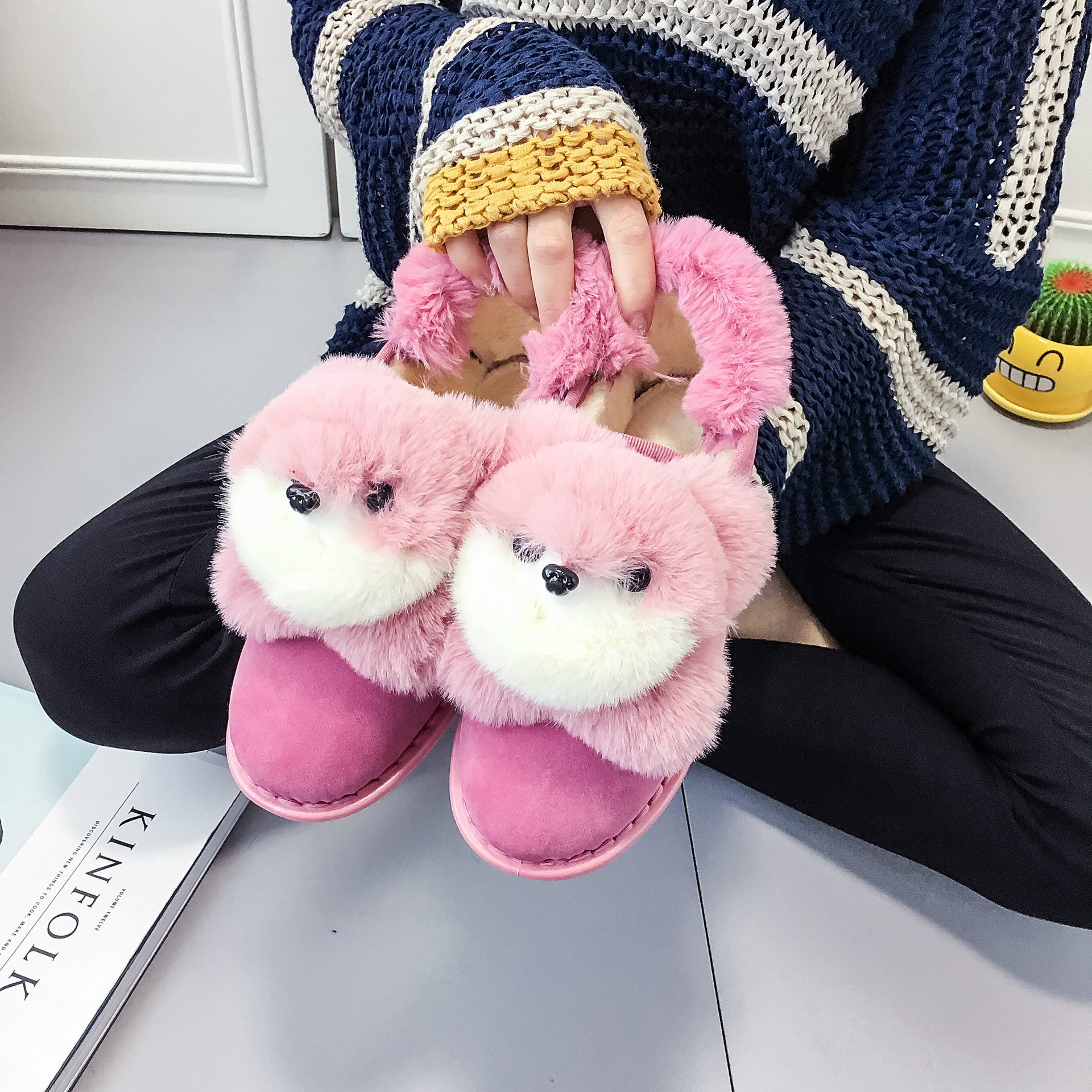 2016新款可爱狐狸头棉靴棉鞋秀气雪地靴