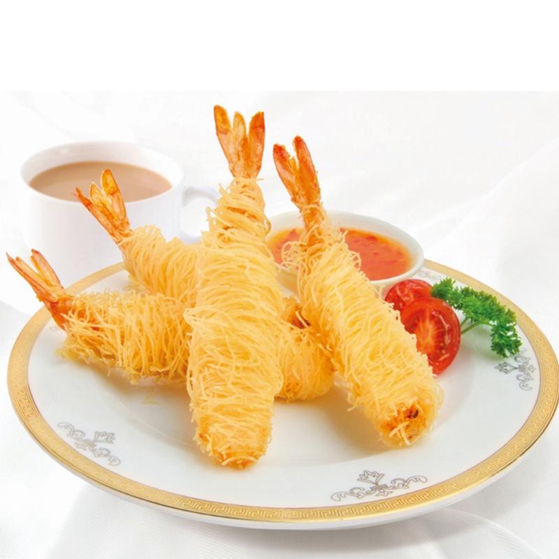 厂家批发亚洲渔港千丝万缕虾面线虾海鲜小吃