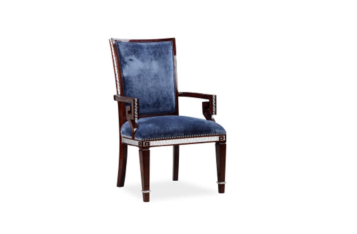 欧式新古典实木书椅书房布艺软包办公椅电脑