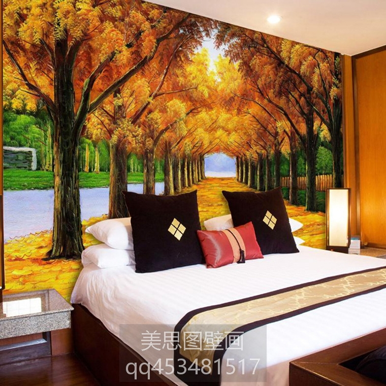 大型壁画电视背景墙纸壁纸卧室客厅3d背景